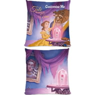 Personalised Disney Beauty And The Beast Picture Scene Cushion - 45x45cm