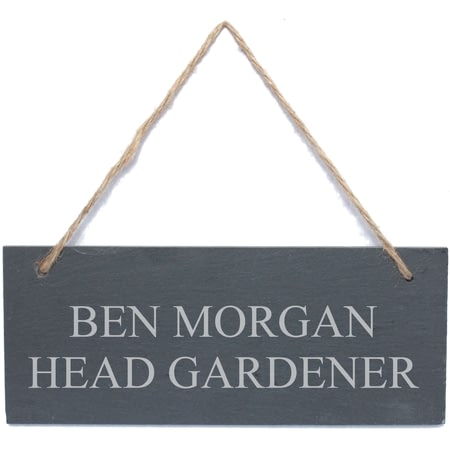 Personalised Engraved Hanging Slate Plaque/Sign