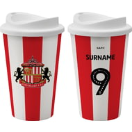 Personalised Sunderland AFC Back Of Shirt 350ml Reusable Tea / Coffee Cup