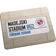 Personalised Reading FC Street Sign Mouse Mat