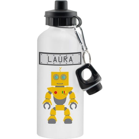 Personalised Robot Aluminium Drinks Bottle