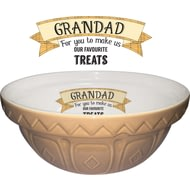 Personalised Large Tan Ceramic Mixing Bowl And 1950 Recipe Book
