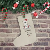 Personalised Bear My First Christmas Stocking