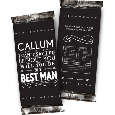 Personalised Can't Say I Do Without You Contemporary Chocolate Bar