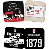 Personalised Fulham FC Coasters