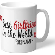 Personalised Manchester United Best Girlfriend In The World Mug