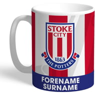 Personalised Stoke City FC Bold Crest Mug