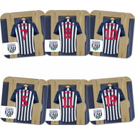 Personalised West Bromwich Albion FC Dressing Room Shirts Coasters Set of 6