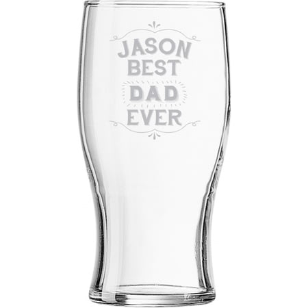 Personalised Best Ever Tulip Pint Glass