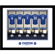 Personalised Everton FC Dressing Room Shirts Framed Print
