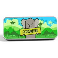 Personalised Kids Elephant Pencil Tin