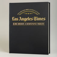 Personalised Kobe Bryant Tribute - LA Times Newspaper Book