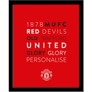 Personalised Manchester United FC Word Collage Framed Print