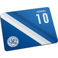 Personalised Queens Park Rangers FC Stripe Mouse Mat