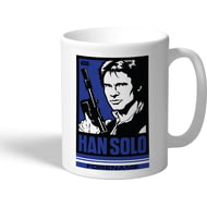 Personalised Star Wars Han Solo Pop Art Mug