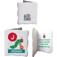 Personalised Very Hungry Caterpillar Dot Initial Ceramic Message Card