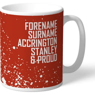 Personalised Accrington Stanley Proud Mug