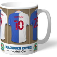 Personalised Blackburn Rovers FC Dressing Room Shirts Mug