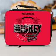 Personalised Disney Mickey Mouse South State Lunch Bag - Black