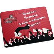 Personalised Leigh Centurions Legend Mouse Mat