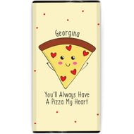 Personalised Pizza My Heart Chocolate Bar