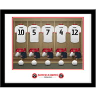 Personalised Sheffield United FC Dressing Room Shirts Framed Print