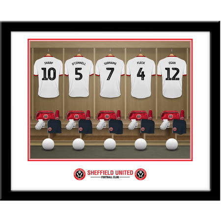 Personalised Sheffield United FC Dressing Room Framed Print