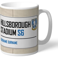 Personalised Sheffield Wednesday FC Hillsborough Stadium Street Sign Mug