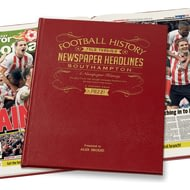 Personalised Southampton Football Newspaper Book Leather
