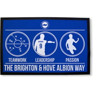 Personalised Brighton & Hove Albion Way Rubber Backed Door Mat