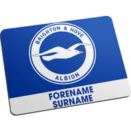 Personalised Brighton & Hove Albion FC Bold Crest Mouse Mat