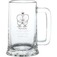 Personalised Chilli & Bubble's Anniversary Glass Stern Tankard