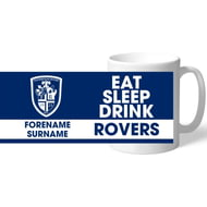 Personalised Featherstone Rovers Eat Sleep Drink Mug