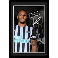 Personalised Newcastle United FC Lascelles Autograph Photo Framed