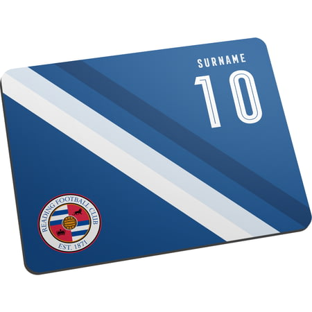 Personalised Reading FC Stripe Mouse Mat