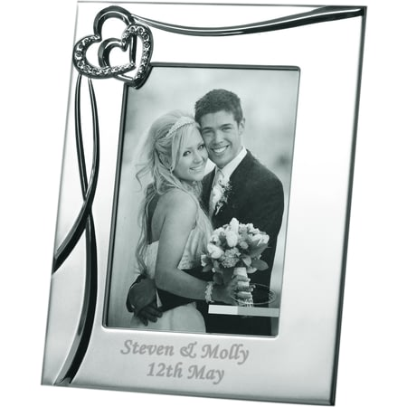Personalised Sparkling Hearts 8x10 Photo Frame