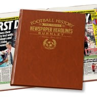 Personalised Burnley Football Newspaper Book - Leatherette Cover