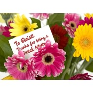 Personalised Flowers For Mum Poster Print