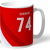 Personalised Brentford Stripe Mug
