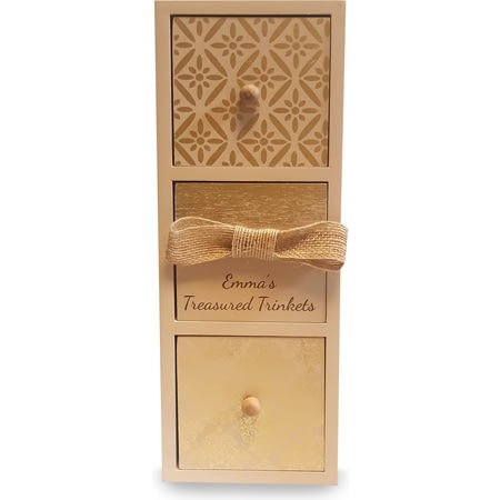 Personalised Gold Detailed Accessory Drawers