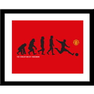 Personalised Manchester United Evolution Framed Print
