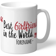 Personalised Middlesbrough Best Girlfriend In The World Mug