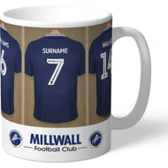 Personalised Millwall FC Dressing Room Shirts Mug