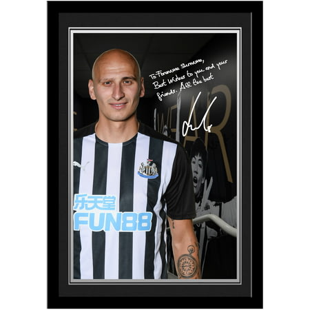 Personalised Newcastle United FC Shelvey Autograph Photo Framed