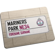 Personalised South Shields FC Street Sign Mouse Mat