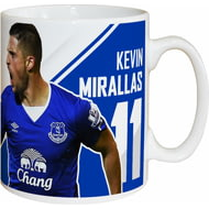 Personalised Everton FC Mirallas Autograph Mug