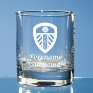 Personalised Leeds United FC Crest Whisky Glass
