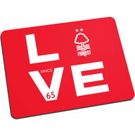 Personalised Nottingham Forest Love Mouse Mat