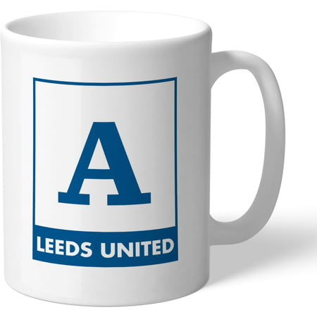 Personalised Leeds United FC Monogram Mug