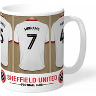 Personalised Sheffield United FC Dressing Room Shirts Mug